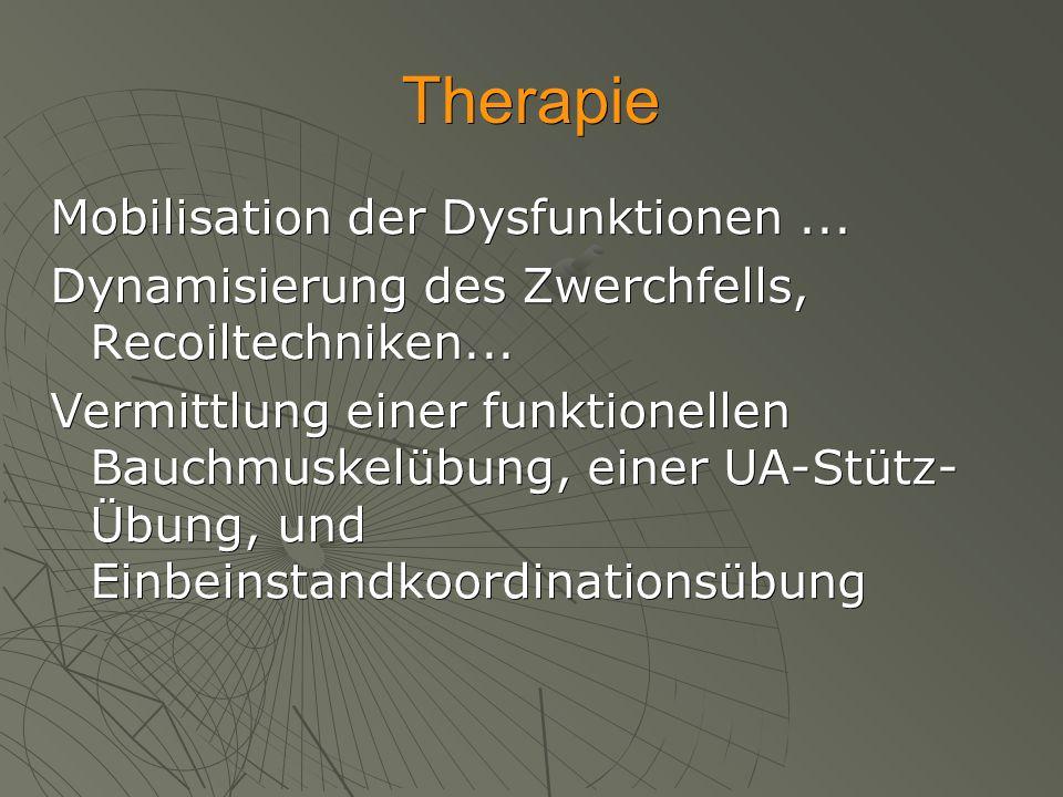 Therapie Mobilisation der Dysfunktionen ...
