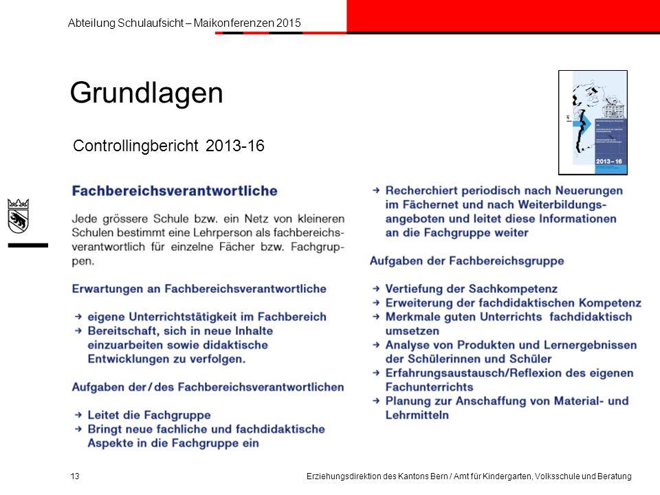 Grundlagen Controllingbericht 2013-16