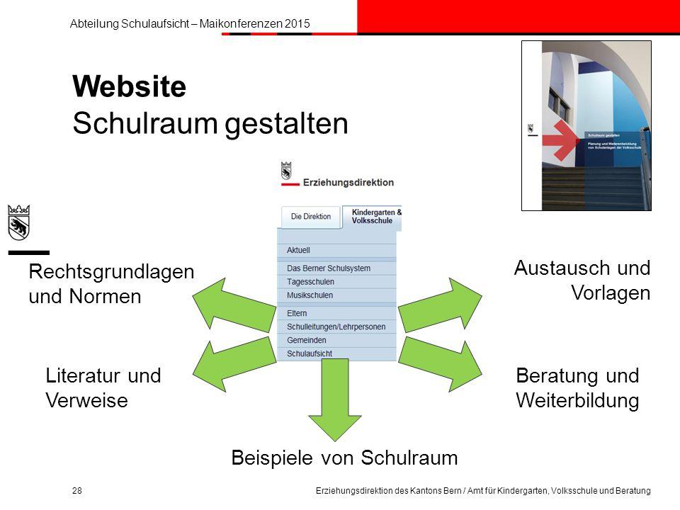 Website Schulraum gestalten