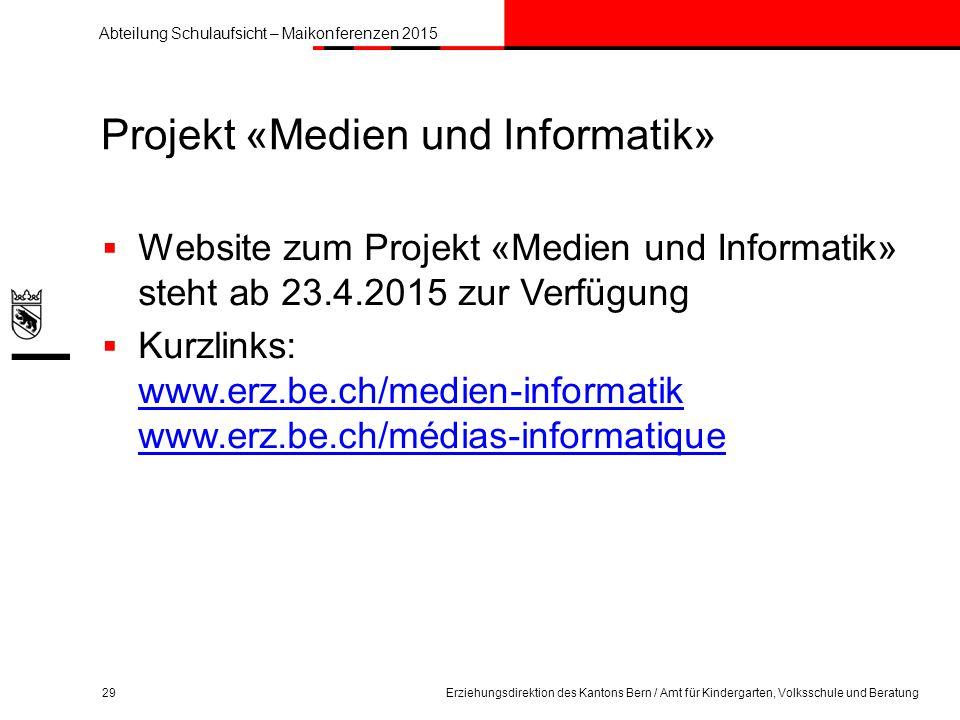 Projekt «Medien und Informatik»