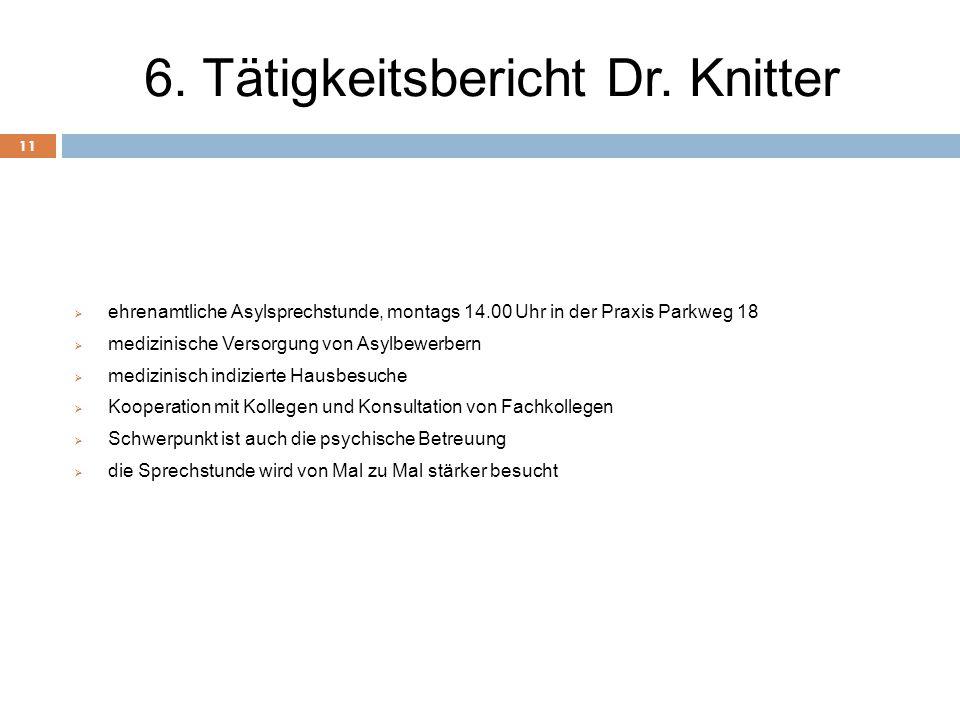 6. Tätigkeitsbericht Dr. Knitter