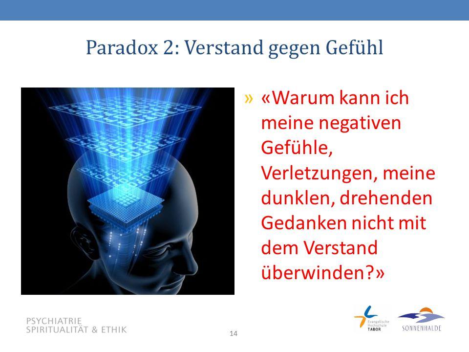Paradox 2: Verstand gegen Gefühl