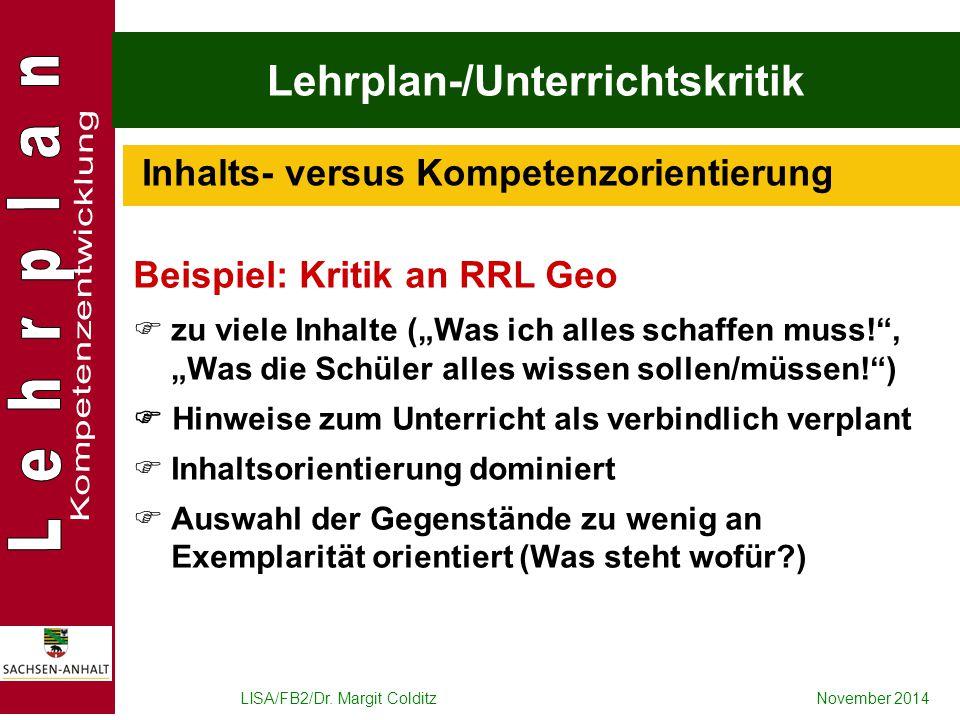Lehrplan-/Unterrichtskritik