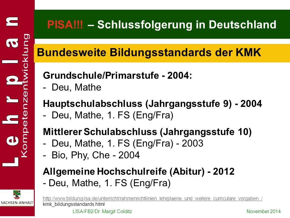 PISA!!! – Schlussfolgerung in Deutschland