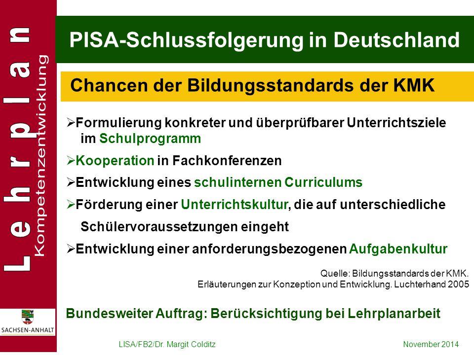 PISA-Schlussfolgerung in Deutschland