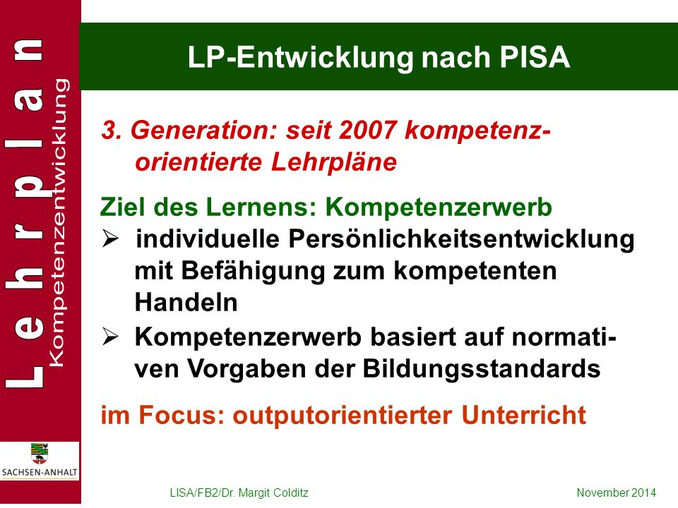 LP-Entwicklung nach PISA