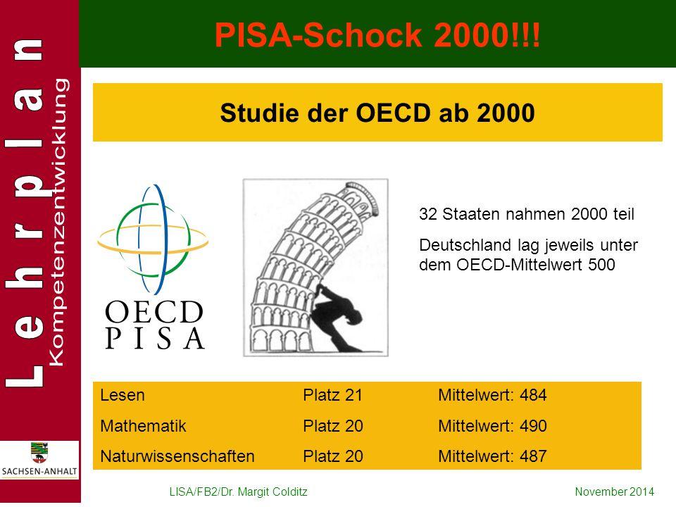 PISA-Schock 2000!!! Studie der OECD ab 2000
