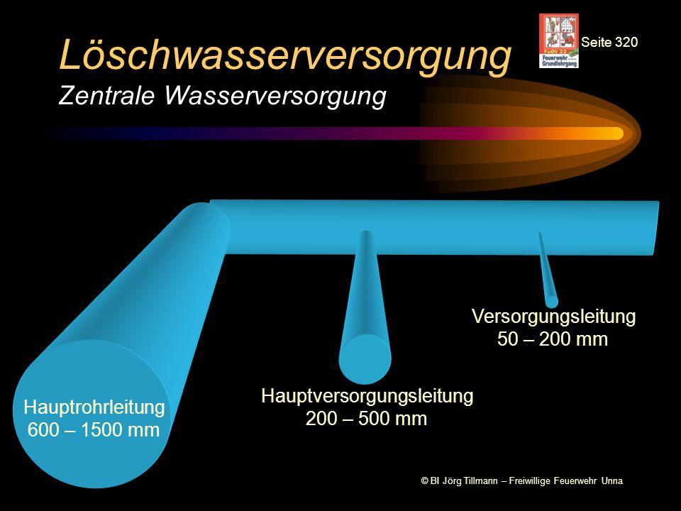 Löschwasserversorgung Zentrale Wasserversorgung