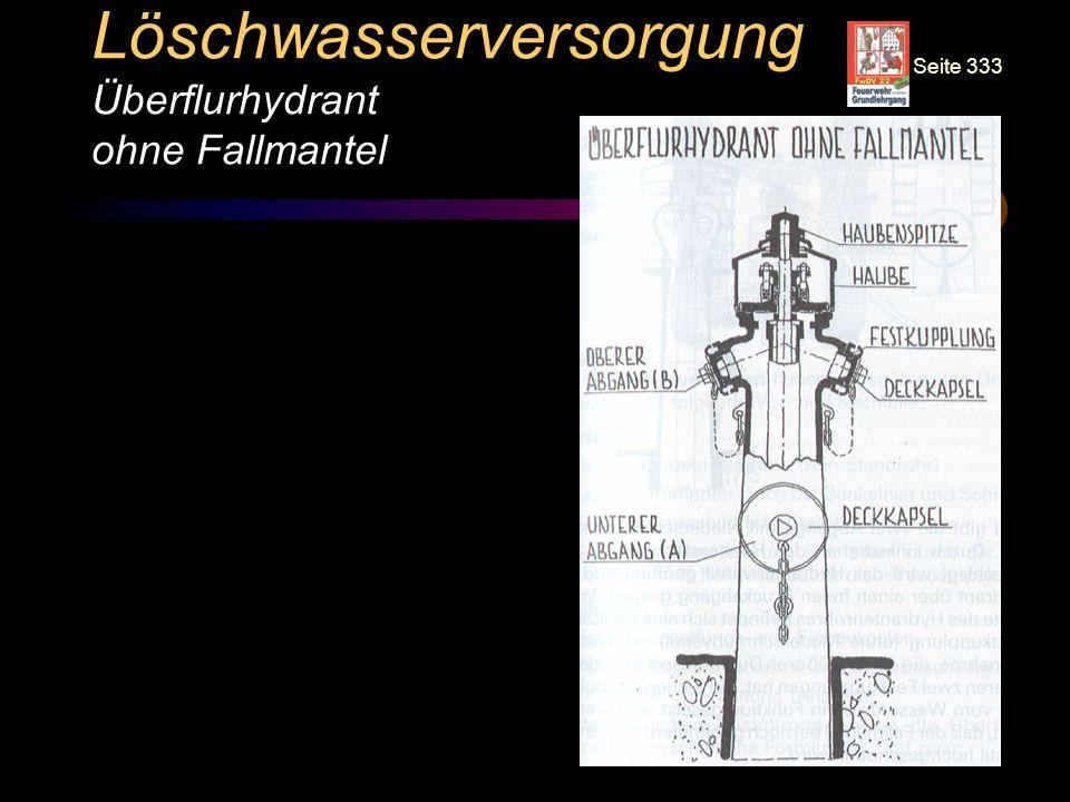Löschwasserversorgung Überflurhydrant ohne Fallmantel