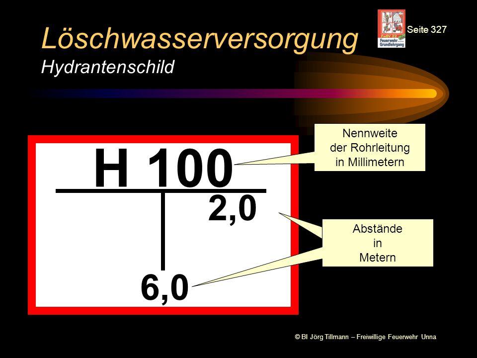 Löschwasserversorgung Hydrantenschild