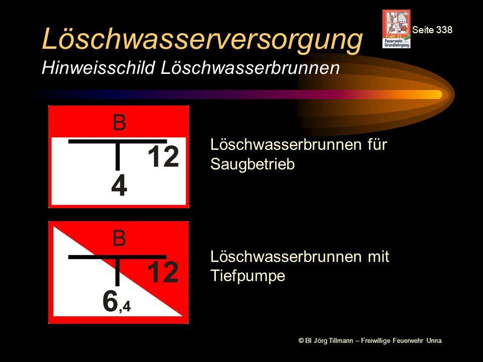 Löschwasserversorgung Hinweisschild Löschwasserbrunnen