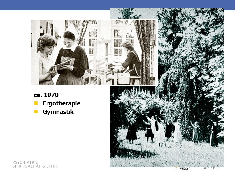 ca. 1970 Ergotherapie Gymnastik