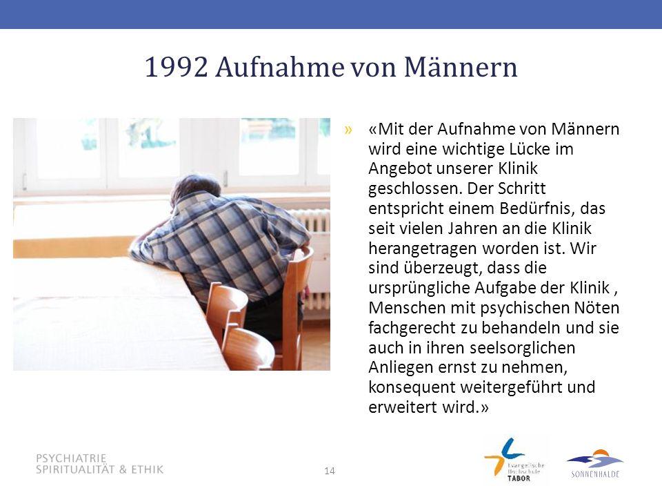 1992 Aufnahme von Männern