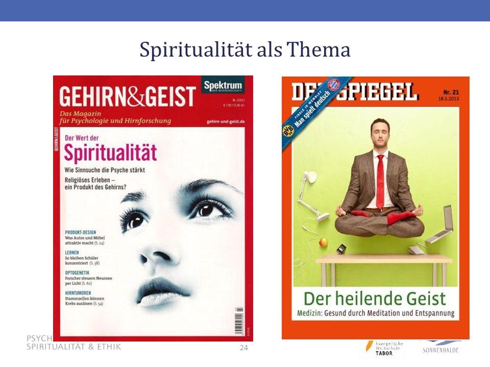 Spiritualität als Thema