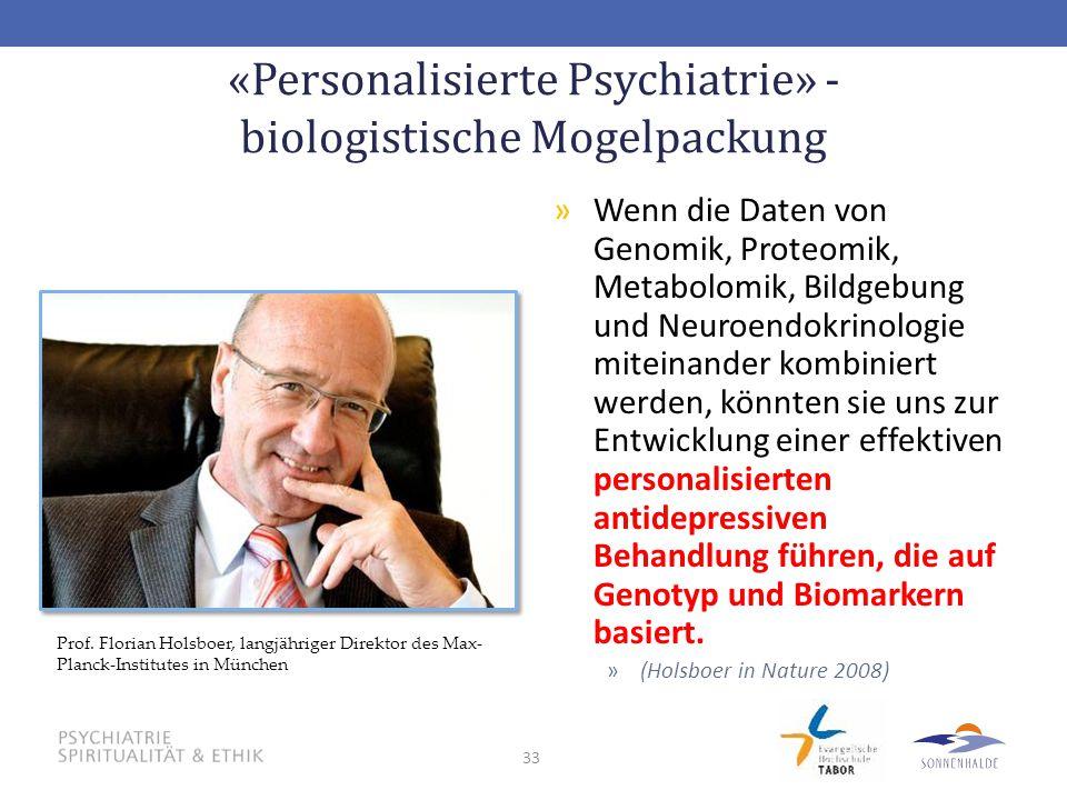 «Personalisierte Psychiatrie» - biologistische Mogelpackung
