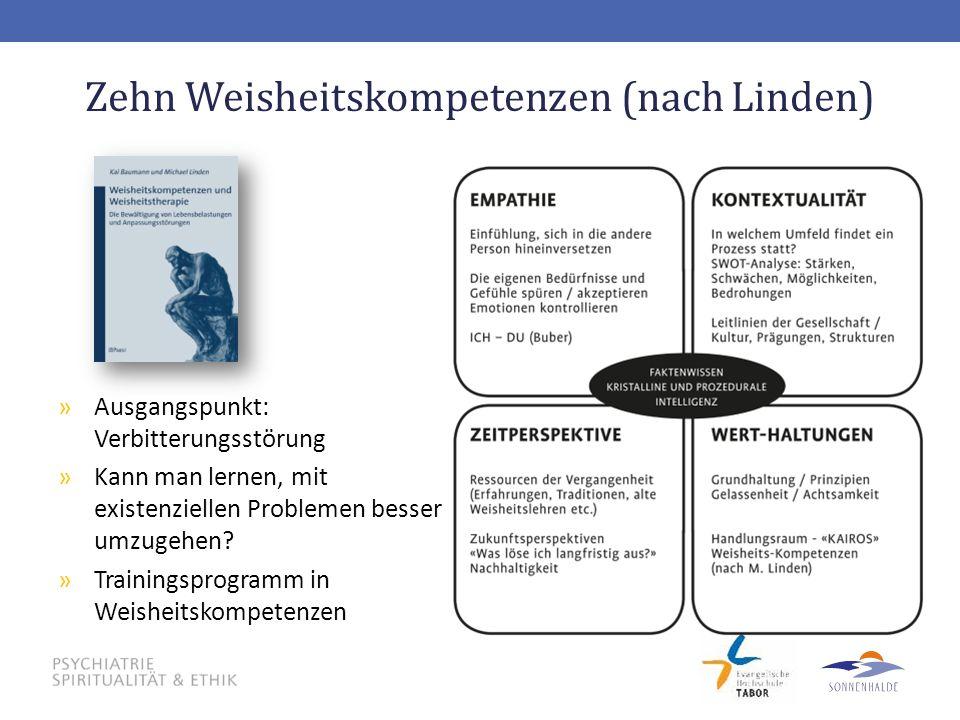 Zehn Weisheitskompetenzen (nach Linden)