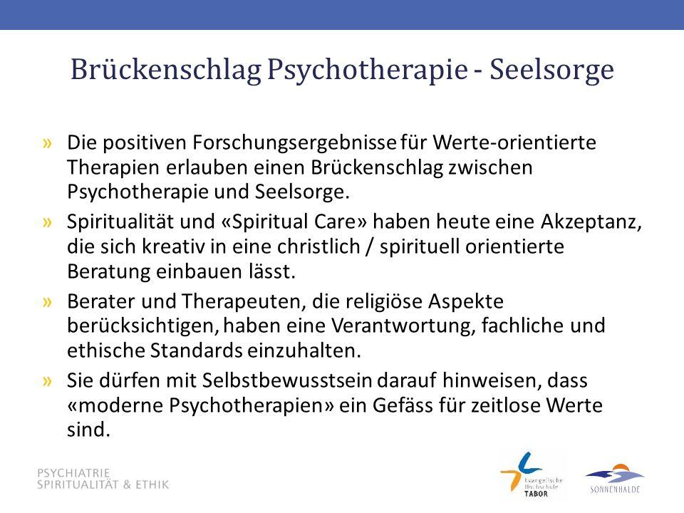 Brückenschlag Psychotherapie - Seelsorge