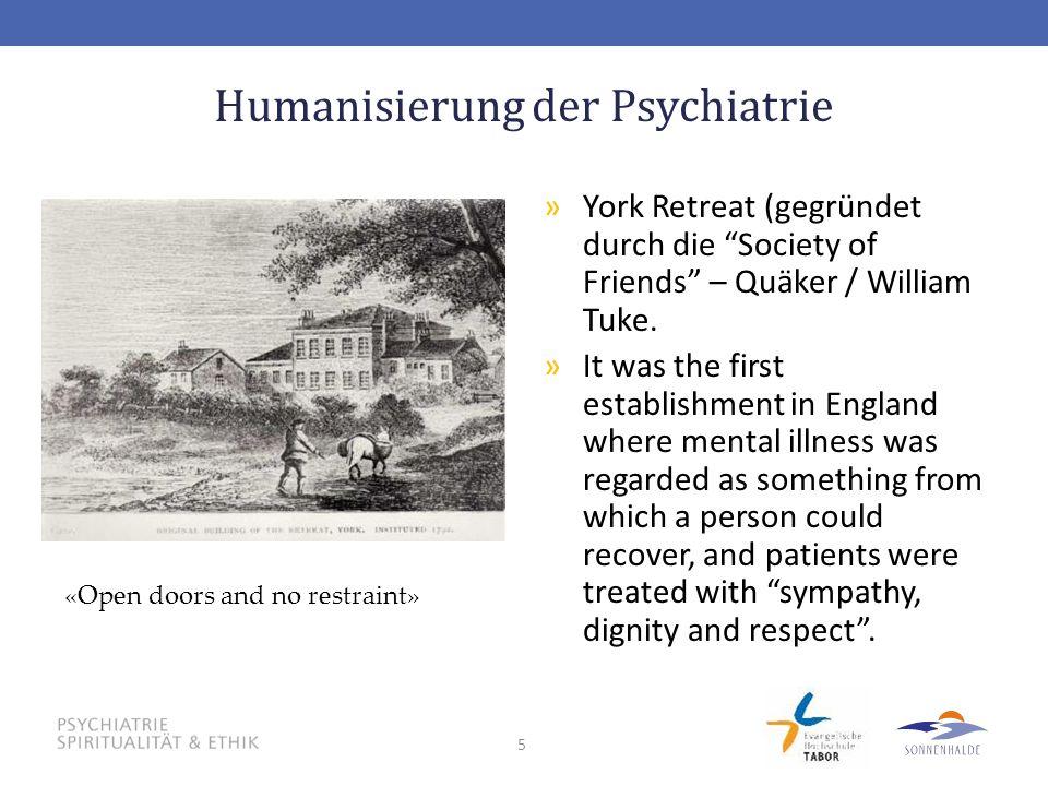 Humanisierung der Psychiatrie
