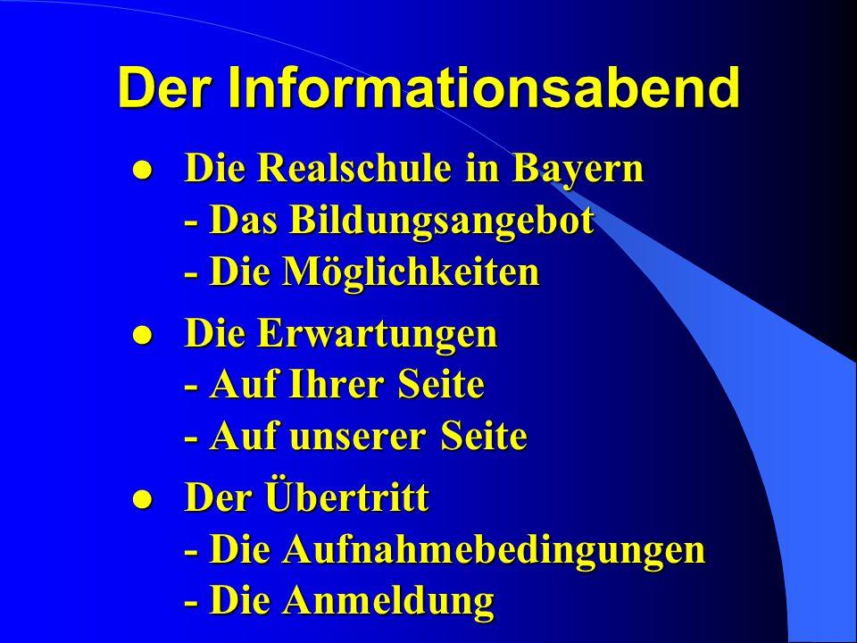 Der Informationsabend
