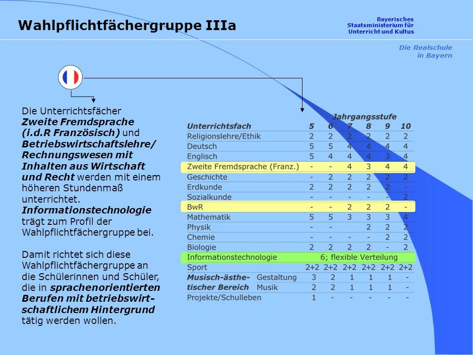 Wahlpflichtfächergruppe IIIa