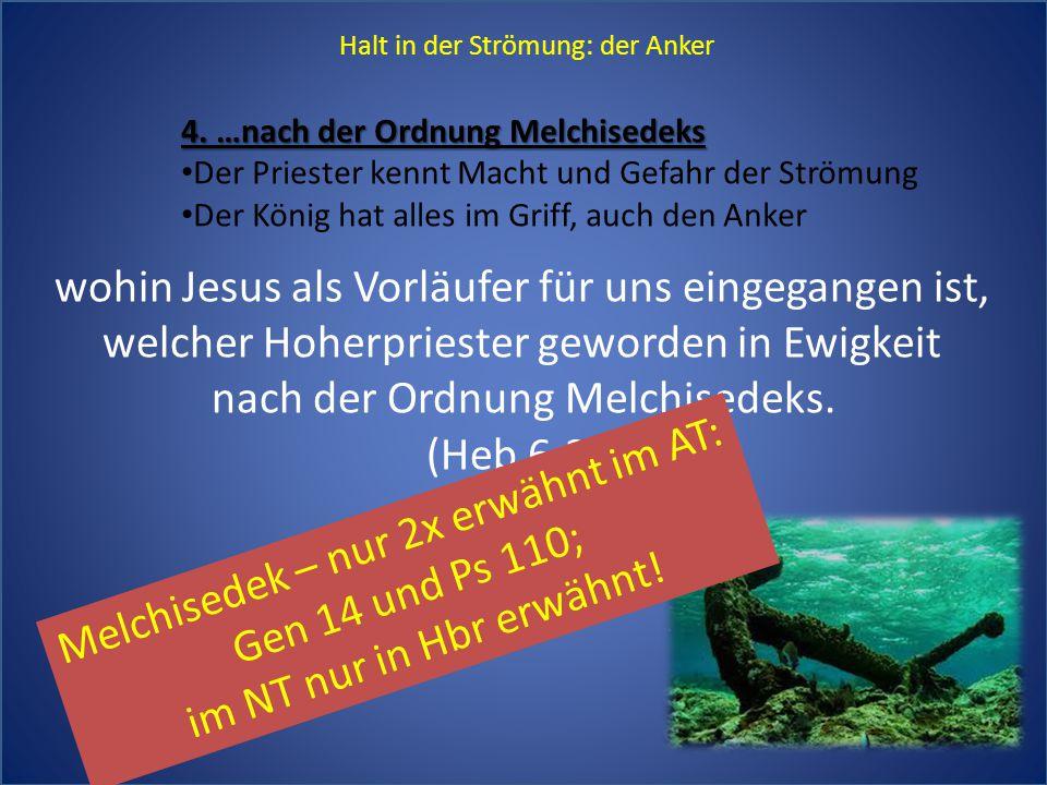 wohin Jesus als Vorläufer für uns eingegangen ist,