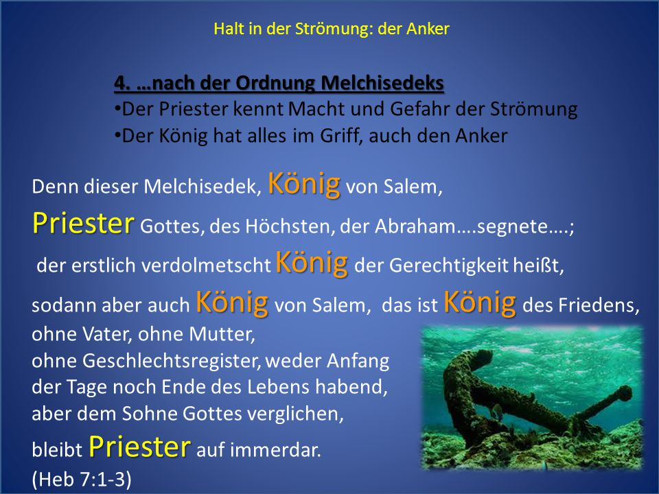 Priester Gottes, des Höchsten, der Abraham….segnete….;