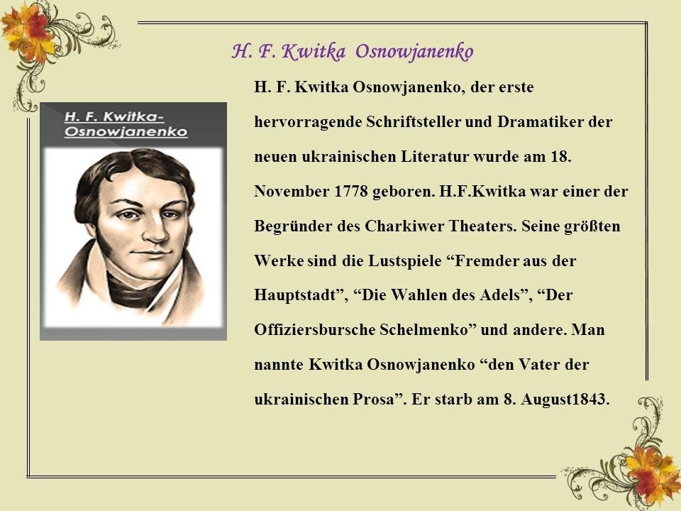 H. F. Kwitka Osnowjanenko