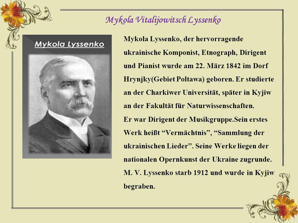 Mykola Vitalijowitsch Lyssenko