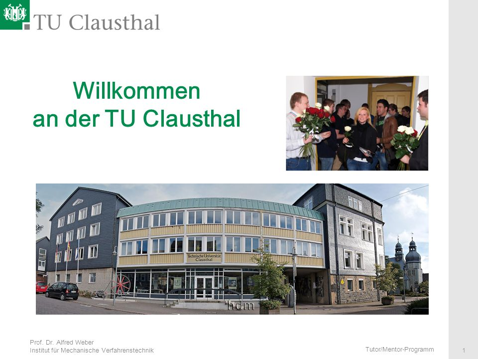 Willkommen an der TU Clausthal