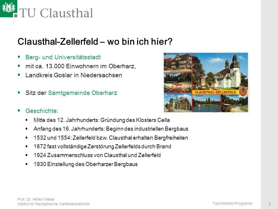 Clausthal-Zellerfeld – wo bin ich hier