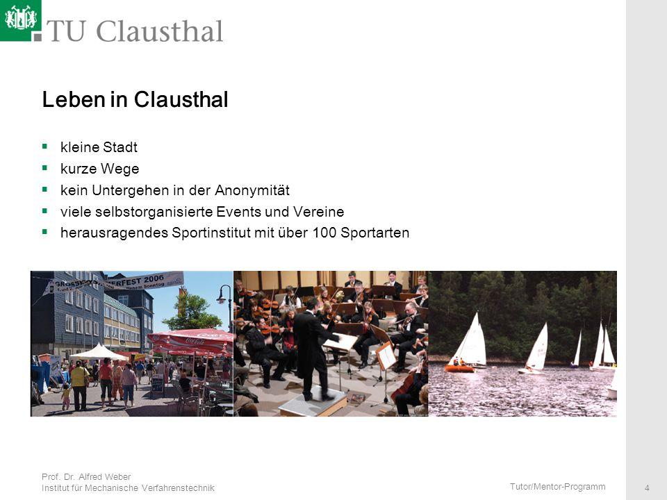 Leben in Clausthal kleine Stadt kurze Wege