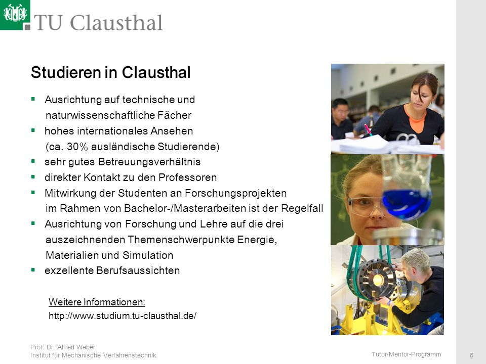 Studieren in Clausthal