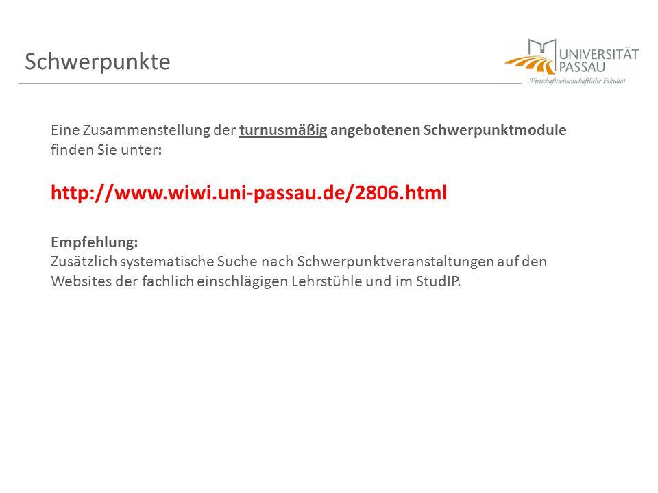 Schwerpunkte http://www.wiwi.uni-passau.de/2806.html