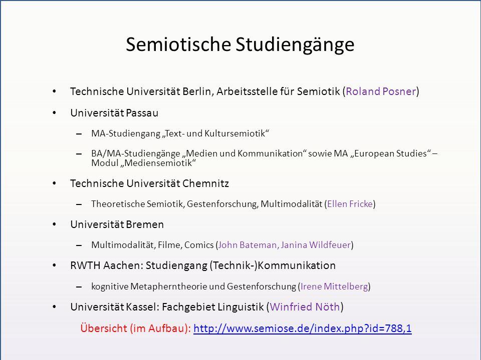 Semiotische Studiengänge
