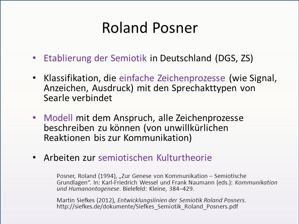 Roland Posner Etablierung der Semiotik in Deutschland (DGS, ZS)