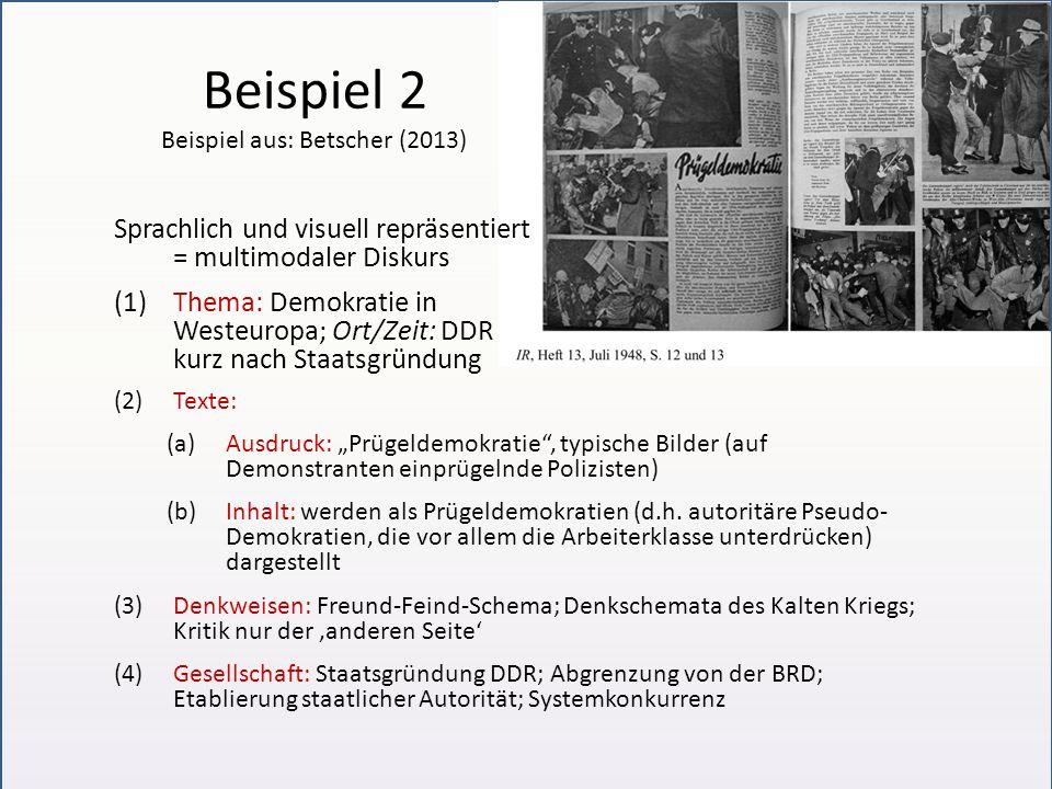 Beispiel 2 Beispiel aus: Betscher (2013)