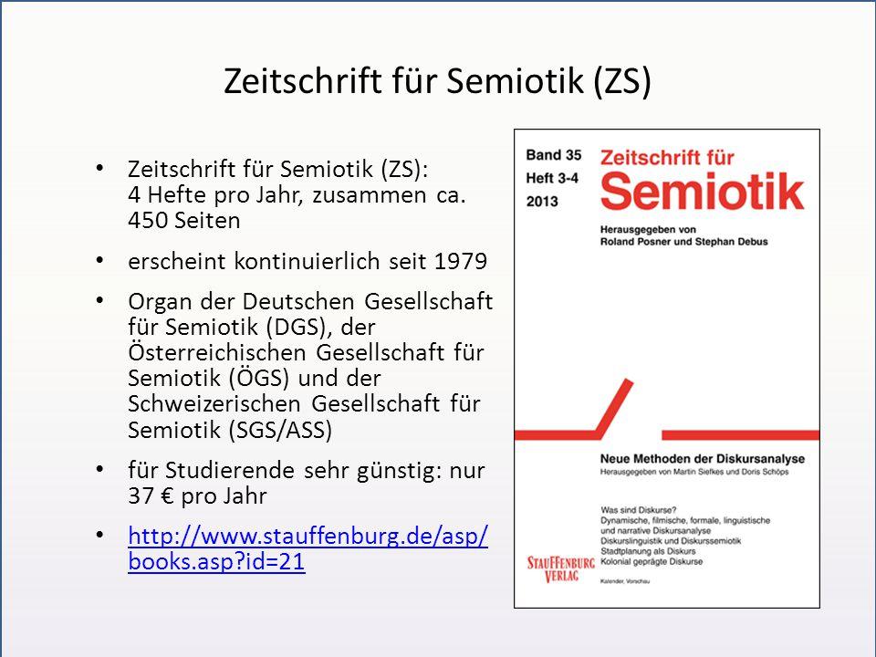 Zeitschrift für Semiotik (ZS)