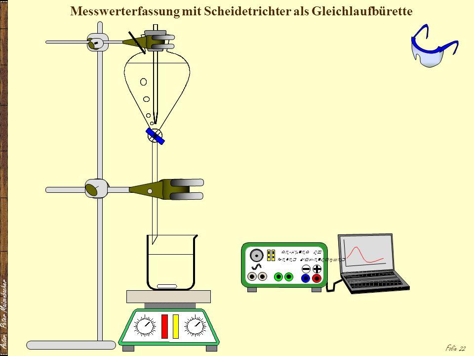 Messwerterfassung mit Scheidetrichter als Gleichlaufbürette