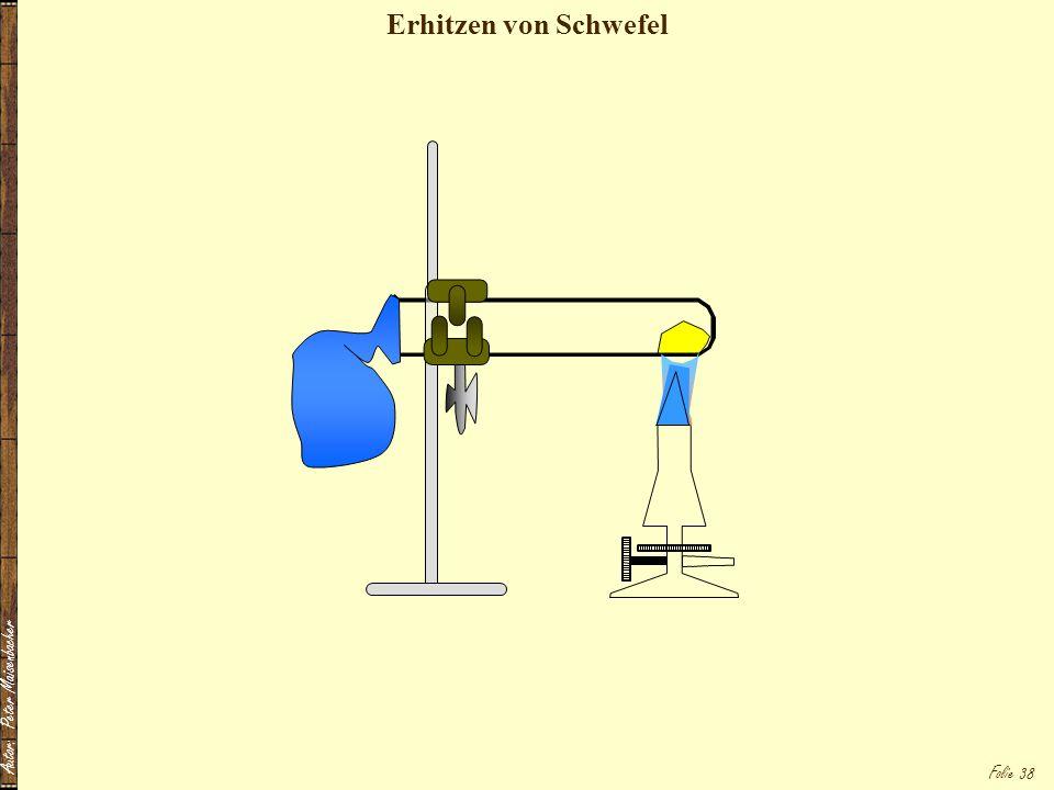 Erhitzen von Schwefel Autor: Peter Maisenbacher
