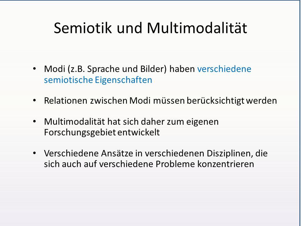 Semiotik und Multimodalität