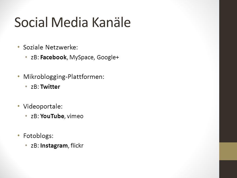 Social Media Kanäle Soziale Netzwerke: Mikroblogging-Plattformen: