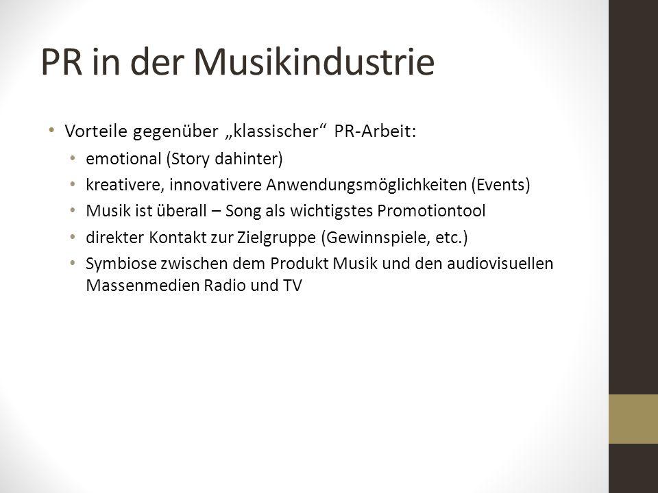 PR in der Musikindustrie