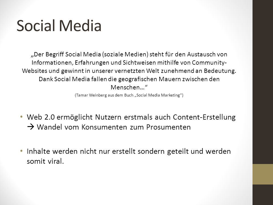 "(Tamar Weinberg aus dem Buch ""Social Media Marketing )"