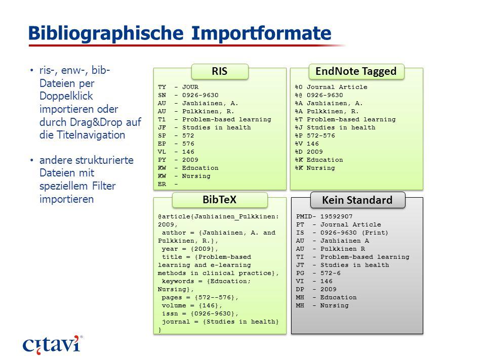 Bibliographische Importformate