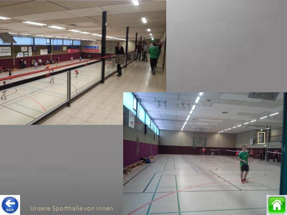 Unsere Sporthalle von innen