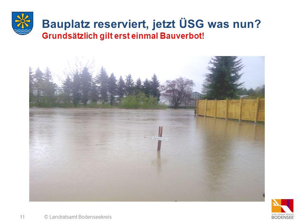 Bauplatz reserviert, jetzt ÜSG was nun