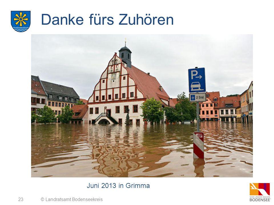 Danke fürs Zuhören Juni 2013 in Grimma © Landratsamt Bodenseekreis