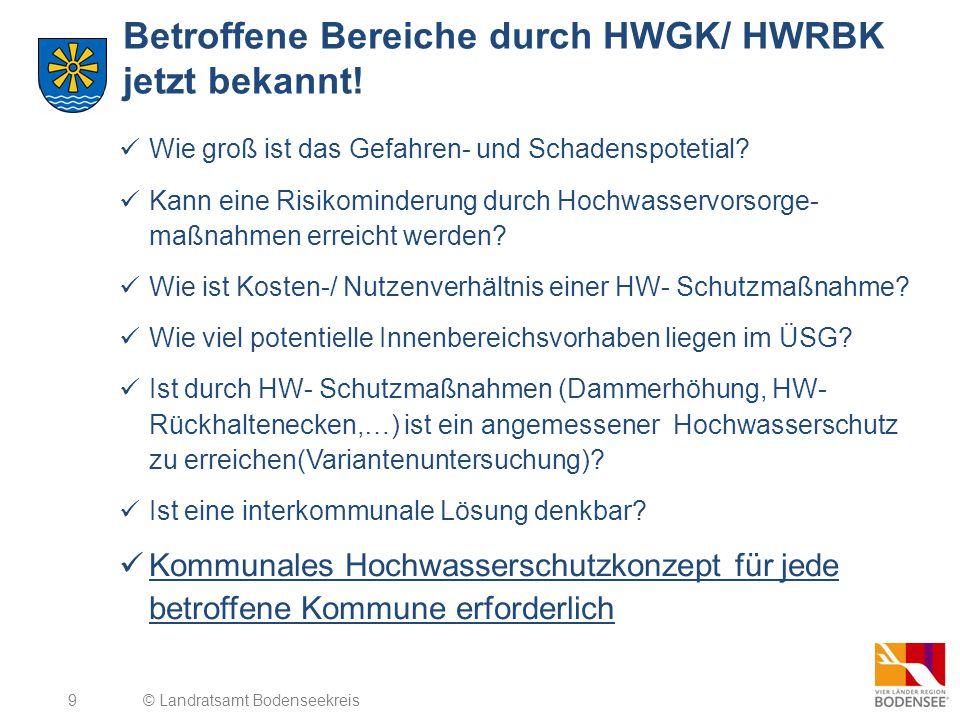 Betroffene Bereiche durch HWGK/ HWRBK jetzt bekannt!