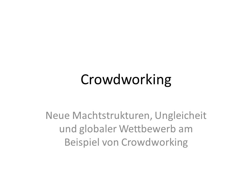 16.04.2017 Crowdworking.