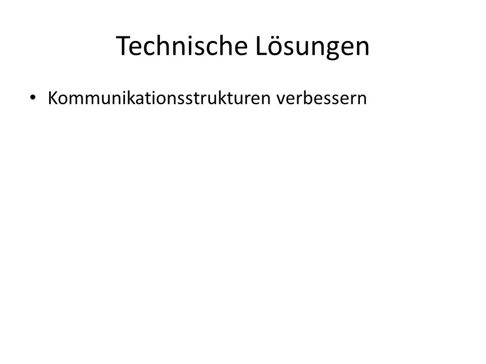 16.04.2017 Technische Lösungen Kommunikationsstrukturen verbessern